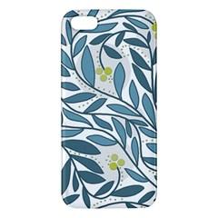 Blue floral design iPhone 5S/ SE Premium Hardshell Case