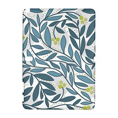 Blue floral design Samsung Galaxy Note 10.1 (P600) Hardshell Case