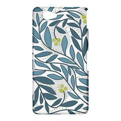 Blue floral design Sony Xperia Z1 Compact