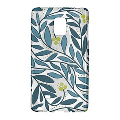 Blue floral design Galaxy Note Edge