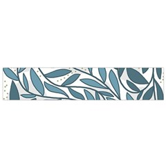 Blue floral design Flano Scarf (Small)