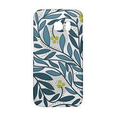 Blue floral design Galaxy S6 Edge