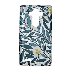 Blue floral design LG G4 Hardshell Case