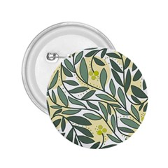 Green floral pattern 2.25  Buttons
