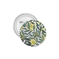 Green floral pattern 1.75  Buttons