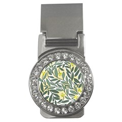 Green floral pattern Money Clips (CZ)