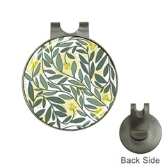 Green floral pattern Hat Clips with Golf Markers