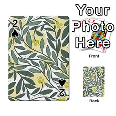 Green floral pattern Playing Cards 54 Designs