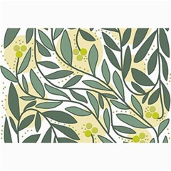 Green floral pattern Collage Prints