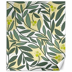 Green floral pattern Canvas 20  x 24