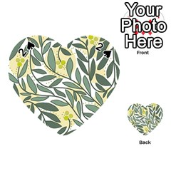 Green floral pattern Playing Cards 54 (Heart)