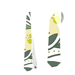 Green floral pattern Neckties (Two Side)
