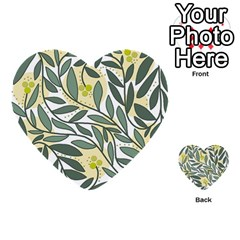 Green floral pattern Multi-purpose Cards (Heart)
