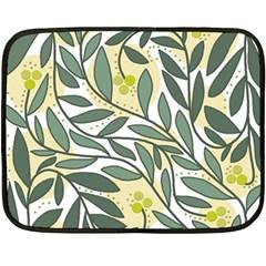 Green floral pattern Fleece Blanket (Mini)