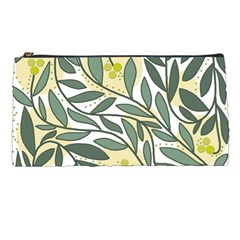 Green floral pattern Pencil Cases