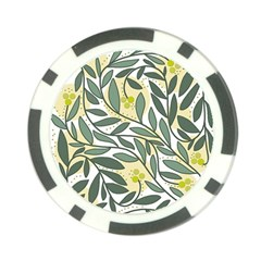 Green floral pattern Poker Chip Card Guards (10 pack)