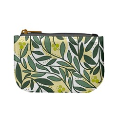 Green floral pattern Mini Coin Purses