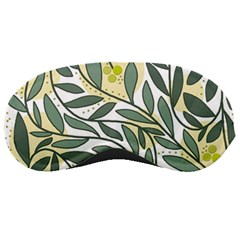 Green floral pattern Sleeping Masks
