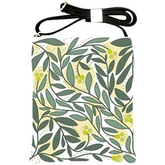 Green floral pattern Shoulder Sling Bags