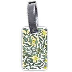 Green floral pattern Luggage Tags (One Side)