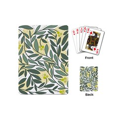 Green floral pattern Playing Cards (Mini)
