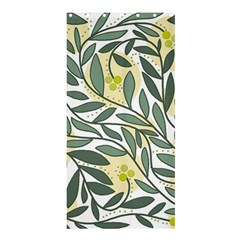 Green floral pattern Shower Curtain 36  x 72  (Stall)