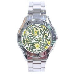 Green floral pattern Stainless Steel Analogue Watch