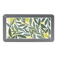 Green floral pattern Memory Card Reader (Mini)
