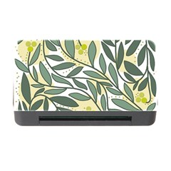 Green floral pattern Memory Card Reader with CF