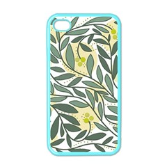 Green floral pattern Apple iPhone 4 Case (Color)