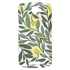 Green floral pattern HTC One S Hardshell Case