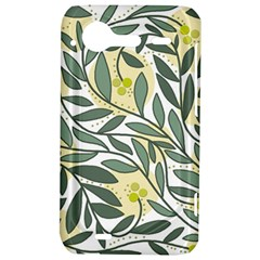 Green floral pattern HTC Incredible S Hardshell Case