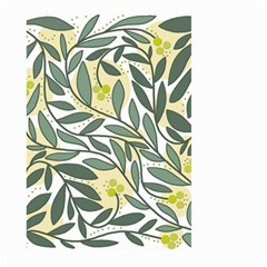 Green floral pattern Large Garden Flag (Two Sides)