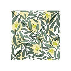 Green floral pattern Acrylic Tangram Puzzle (4  x 4 )