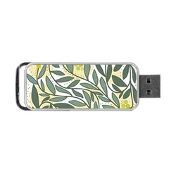 Green floral pattern Portable USB Flash (One Side)