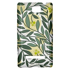 Green floral pattern HTC 8S Hardshell Case