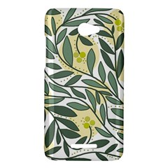 Green floral pattern HTC Butterfly X920E Hardshell Case