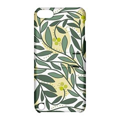 Green floral pattern Apple iPod Touch 5 Hardshell Case with Stand