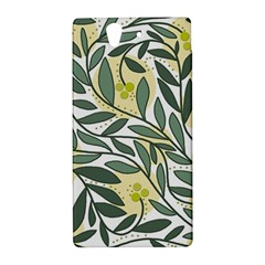 Green floral pattern Sony Xperia Z