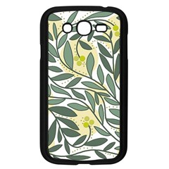 Green floral pattern Samsung Galaxy Grand DUOS I9082 Case (Black)