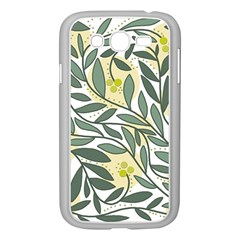 Green floral pattern Samsung Galaxy Grand DUOS I9082 Case (White)