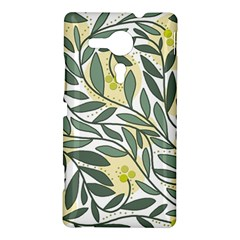 Green floral pattern Sony Xperia SP