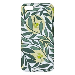 Green floral pattern iPhone 5S/ SE Premium Hardshell Case