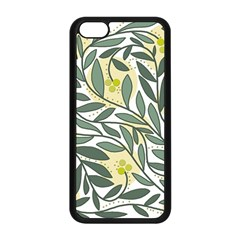 Green floral pattern Apple iPhone 5C Seamless Case (Black)