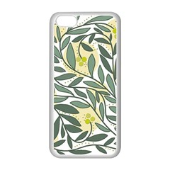 Green floral pattern Apple iPhone 5C Seamless Case (White)
