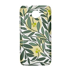 Green floral pattern HTC Desire 601 Hardshell Case