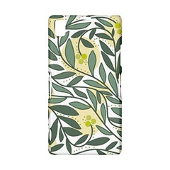 Green floral pattern Sony Xperia Z1