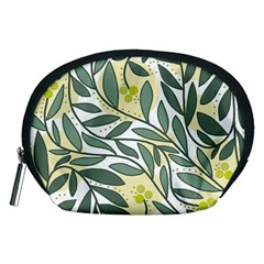 Green floral pattern Accessory Pouches (Medium)