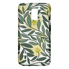 Green floral pattern Galaxy S5 Mini