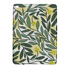 Green floral pattern iPad Air 2 Hardshell Cases